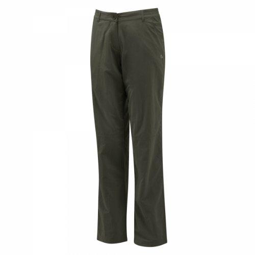 CRAGHOPPERS CWJ1034R Damen Hose khaki Insekten- und UV Schutz
