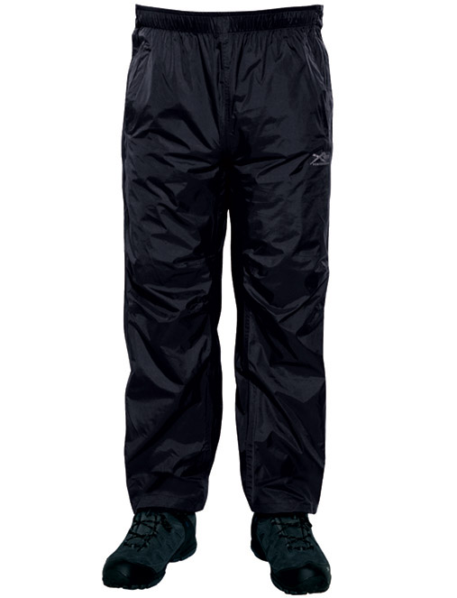 Regatta Active Packaway Herren Regenhose schwarz durchgehende Reißverschlüsse