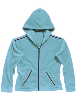 Regatta Kinder Fleece Jacke Charlie mit Kapuze hellblau