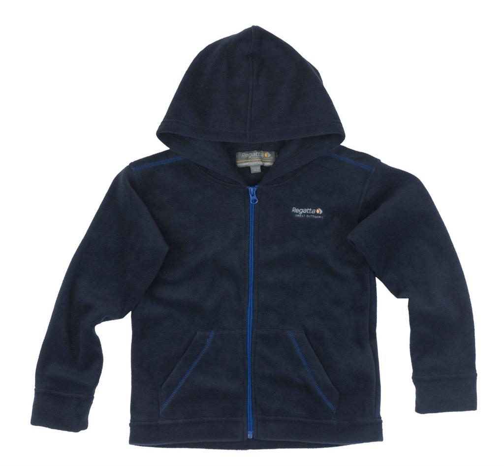 Regatta Kinder Fleece Jacke mit Kapuze dunkelblau