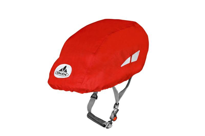 Vaude Helmet Raincover Fahrradhelm Helm Regenüberzug rot schwarz lemon