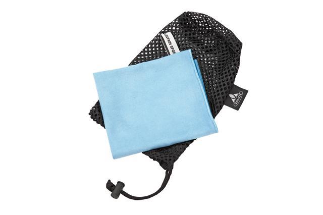 VAUDE Sports Towel leichtes Handtuch Mikrofaser blau schnelltrocknend