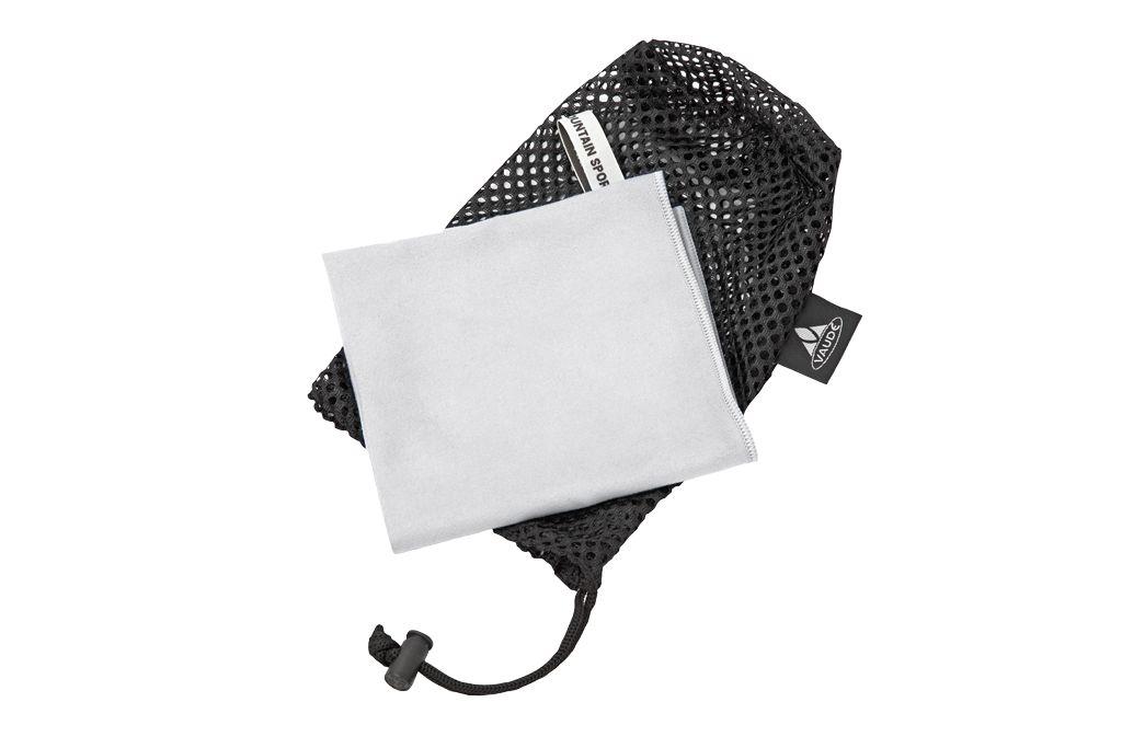 VAUDE Sports Towel leichtes Handtuch Mikrofaser grau schnelltrocknend