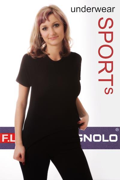 Campagnolo Damen Hemd Funktionshemd Kurzarm warm Gr. 42 schwarz