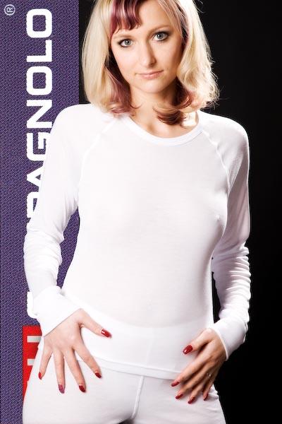 Campagnolo Damen Hemd Funktionshemd Langarm superwarm Gr. 42 weiß