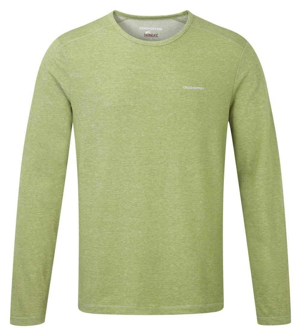 3329ffe0663ac Craghoppers NLife LS Base T palmgreenmarl Herren Shirt grün  insektenabweisend