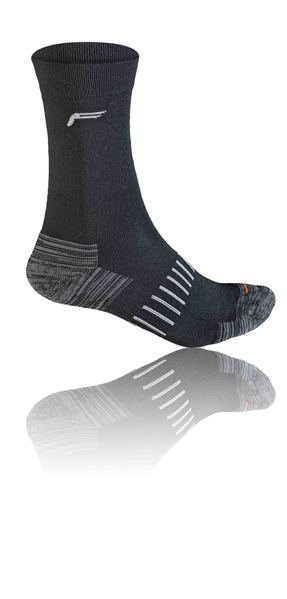 Fuse Backpacking Comfort Merino Wander Trekking Socke schwarz