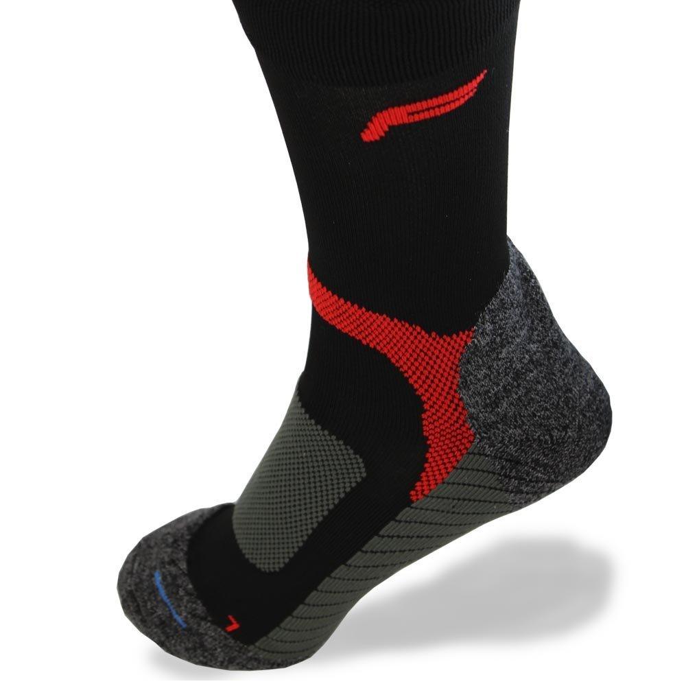 Fuse Trekking Pro Merino Wander Trekking Socke schwarz/rot