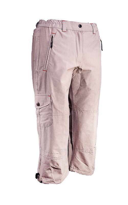 hot-sportswear Stretch Capri Pant sand Damen Caprihose Wanderhose