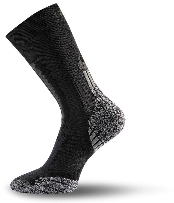 Lasting ITU 900 Trekking Wander Outdoor Socke schwarz