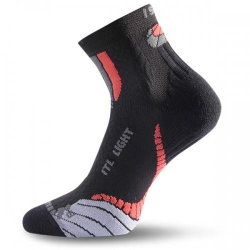Lasting ITL 903 Trekking Wander Outdoor Socke COOLMAX® schwarz/rot