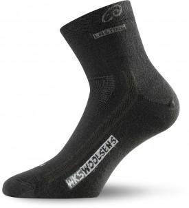 Lasting WKS 900 Merino Outdoor Trekking Socken schwarz