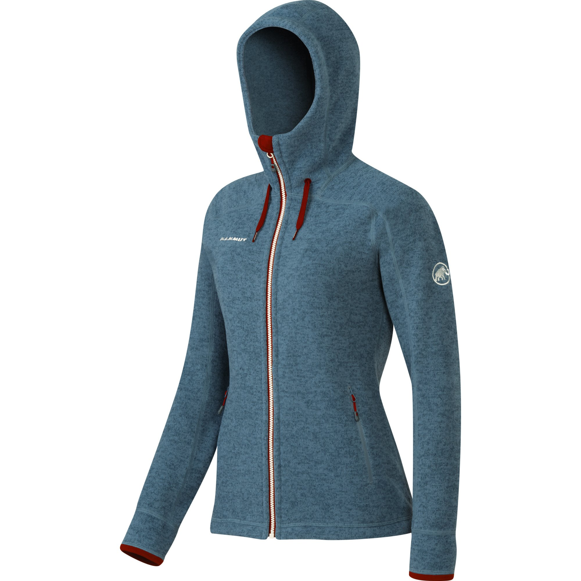 Mammut Arctic Hooded chill Damen Strickfleece Jacke blau