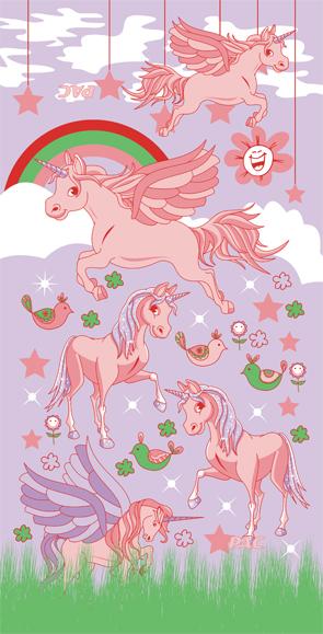 P.A.C. kids Flying Unicorn Multifunktionstuch Halstuch für Kinder