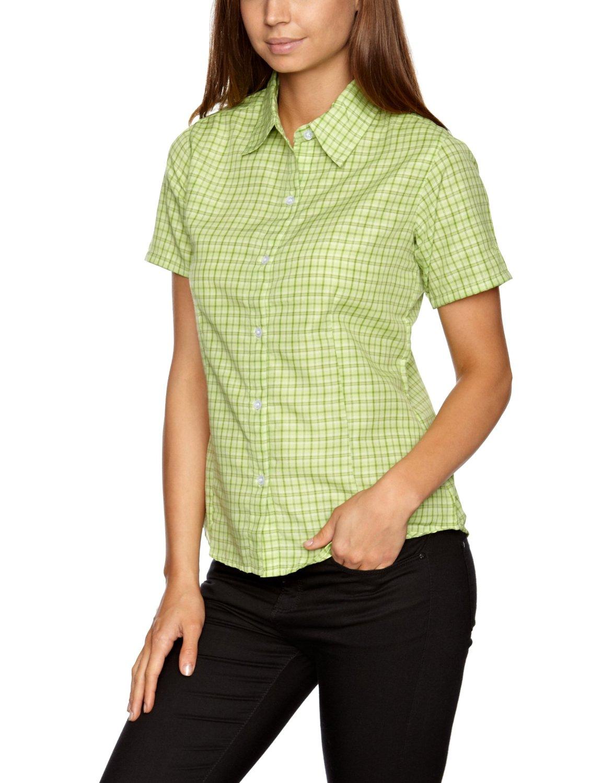 Regatta Damen Bluse Funktionsbluse Shirt Kurzarm grün rot