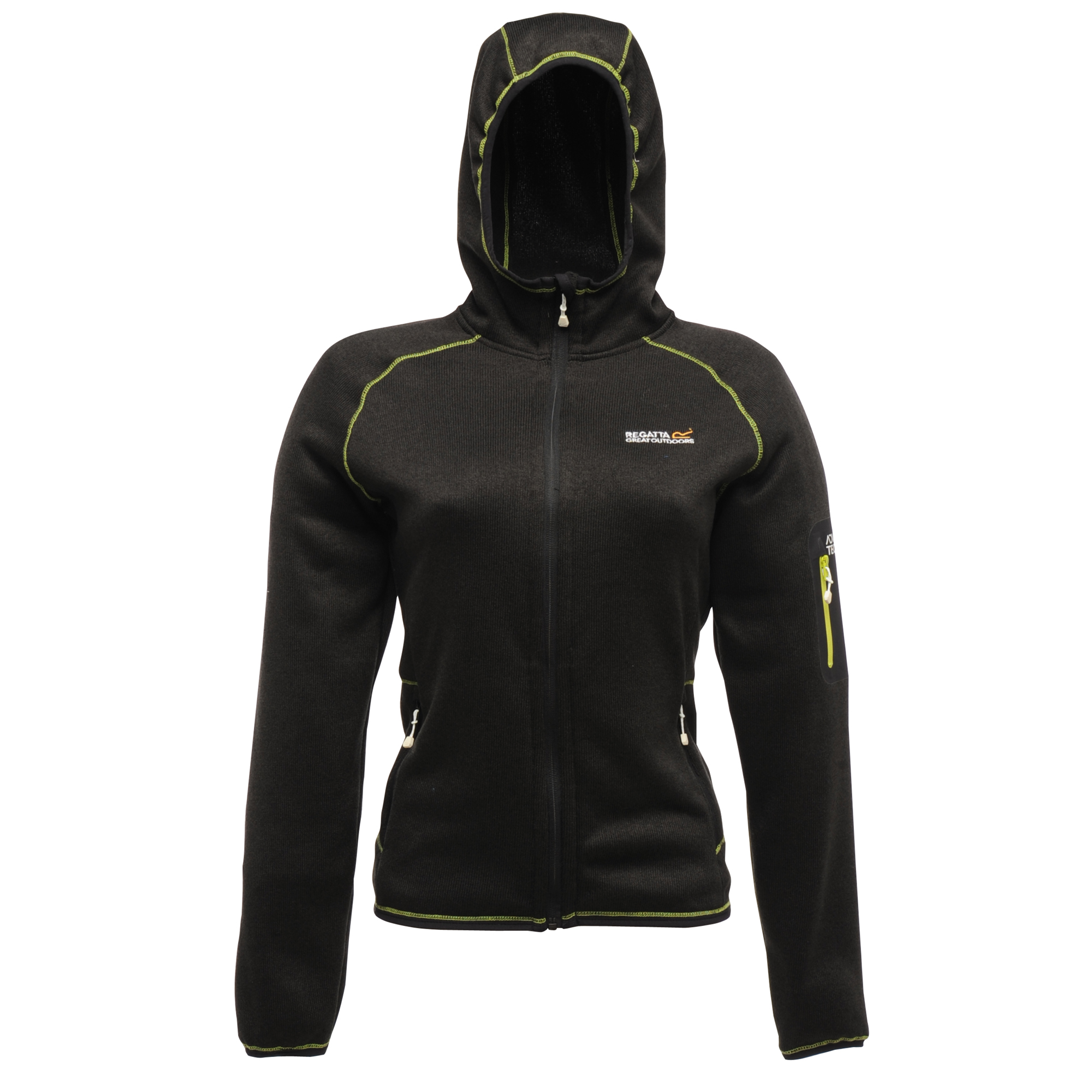 Regatta Winterlove sportliche Damen Fleecejacke Strickeffekt schwarz