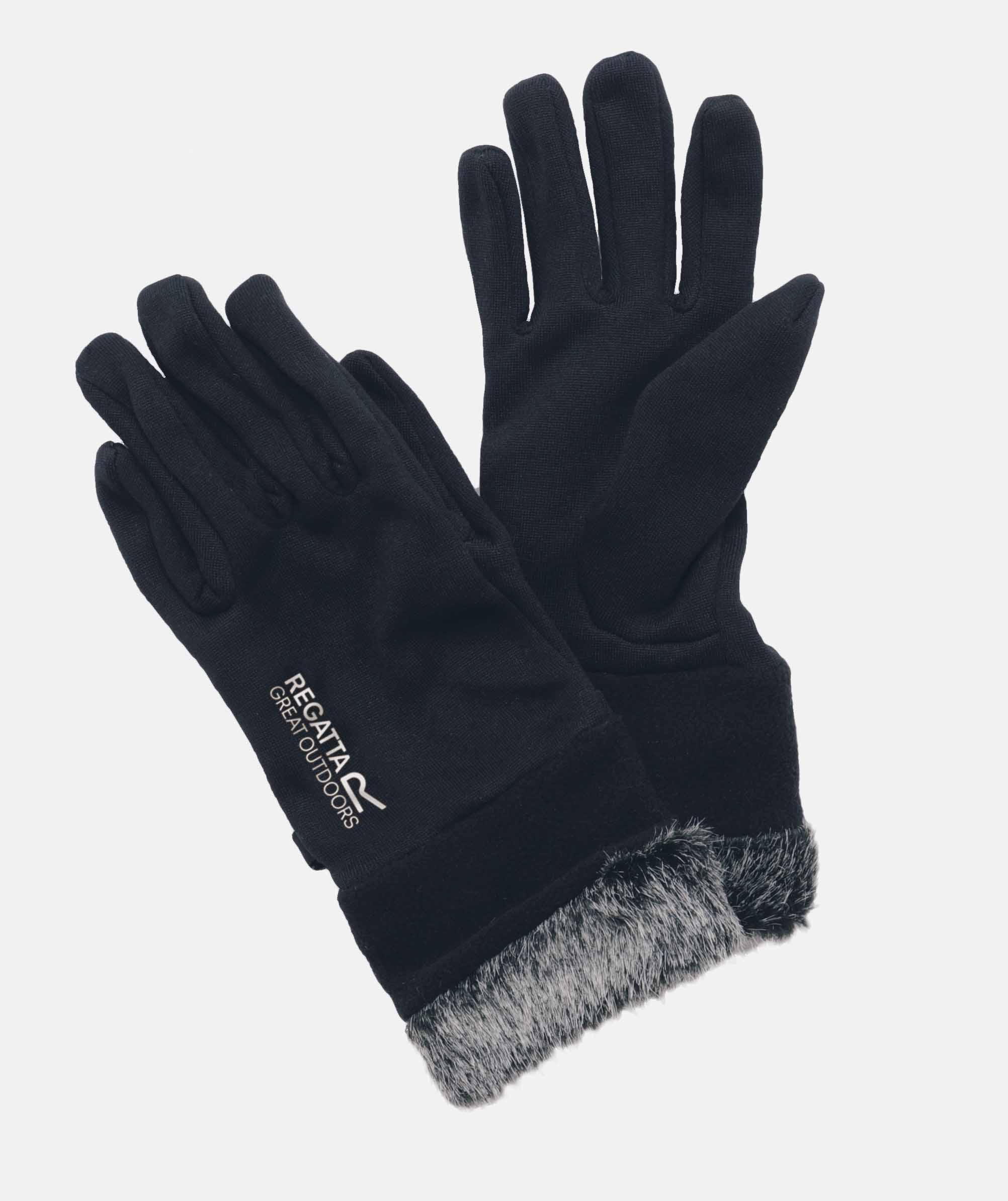 Regatta Xert Extol Gloves Damenhandschuhe wasserabweisend schwarz