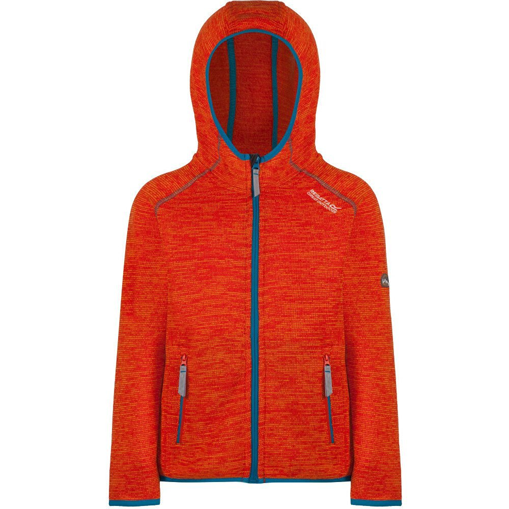 Regatta Dissolver amber glow Kinder Fleecejacke orange mit Kapuze