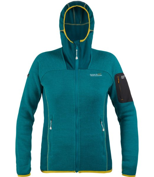 Regatta Willowbrook enamel Damen Fleecejacke Jacke mit Strickeffekt blau
