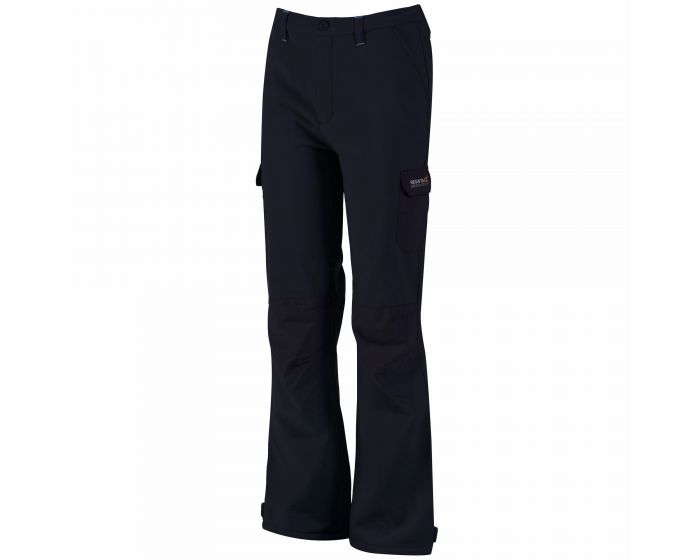 Regatta Winter Softshell Trousers Softshellhose für Kinder gefüttert blau