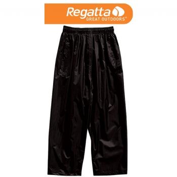 Regatta Kids Stormbreak OT Kinder Regenhose Matschhose schwarz