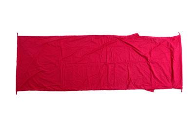 Relags Inlett Schlafsack Hüttenschlafsack Decke Mischgewebe rot
