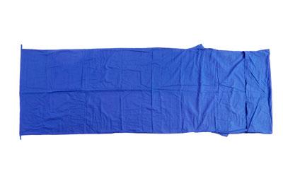 Relags Inlett Schlafsack Hüttenschlafsack Decke Baumwolle blau