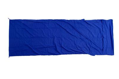 Relags Inlett Schlafsack Hüttenschlafsack Decke Mischgewebe blau
