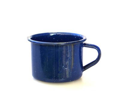 Relags Emaille Espressotasse blau Trinkbecher Tasse