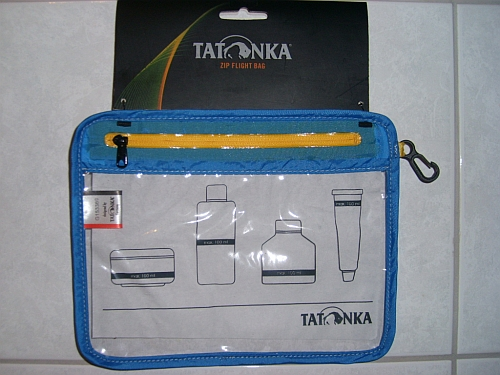 Tatonka Zip Flight Bag transparente Tasche Handgepäck
