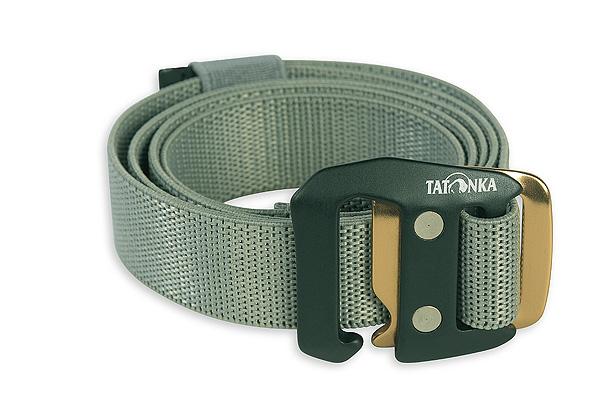 Tatonka Stretch Belt 25mm warm grey elastischer Gürtel grau