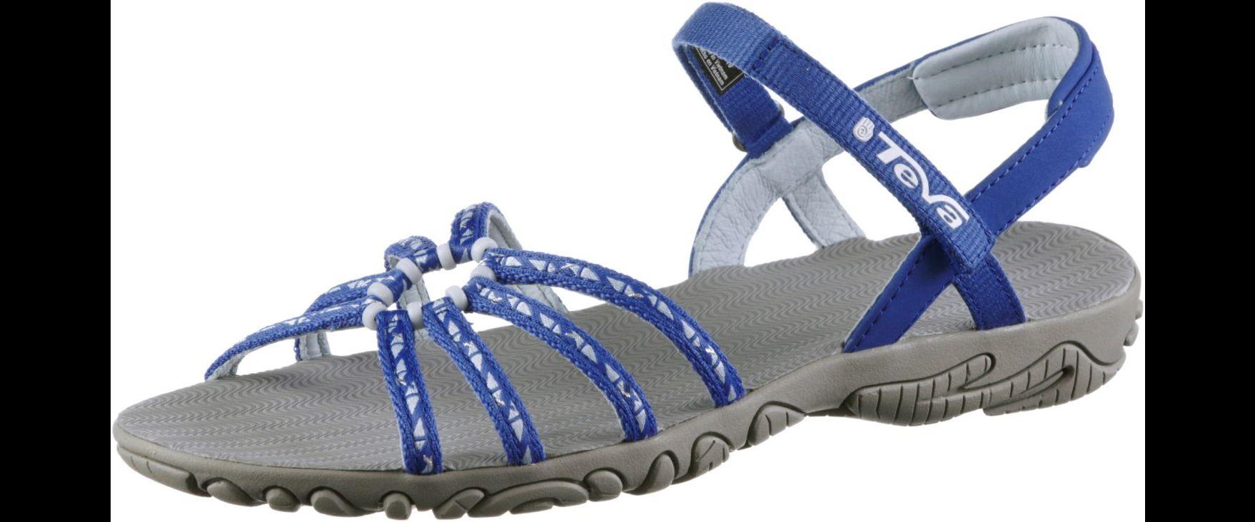Teva Kayenta cascade blue Damensandale mit grazilen Bändern blau