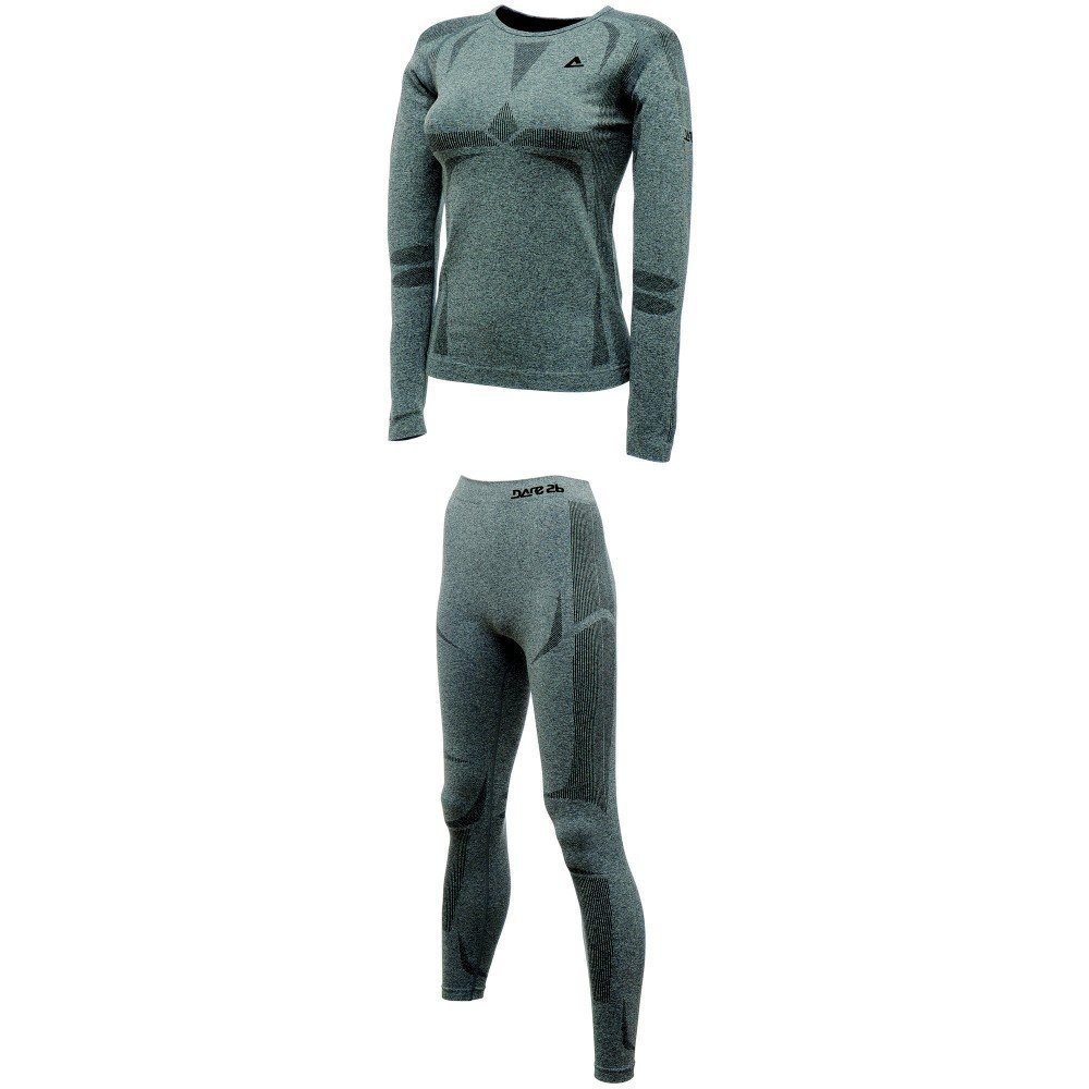Dare2b Zonal Base Layer Set Damen Funktionsunterwäsche grau