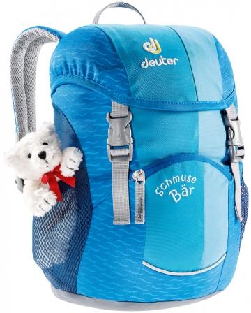 Deuter Schmusebär 8l Kinderrucksack mit Teddy blau pink Grün