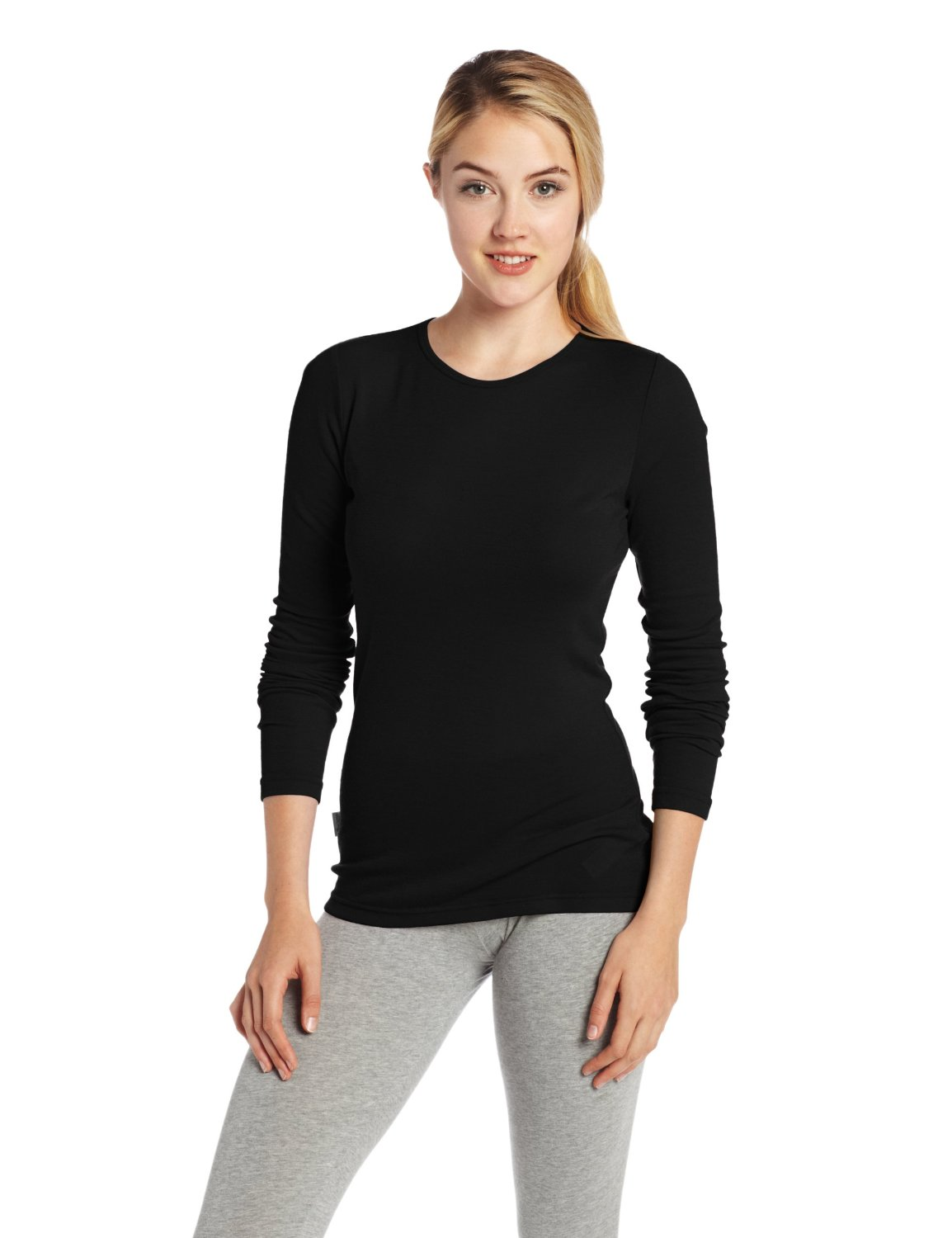 Icebreaker Wo Everyday  LS Crewe black Damen Funktionshemd Merino