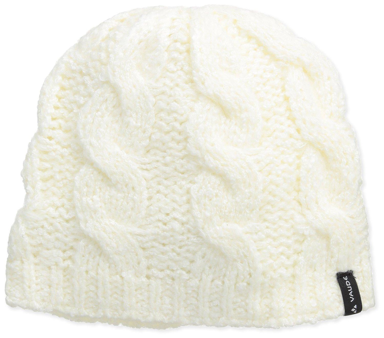 Vaude Pepin Beanie II offwhite flauschige Mütze mit Zopfmuster weiß