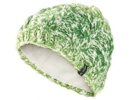 Vaude Pepin Beanie II pistachio flauschige Mütze mit Zopfmuster grün