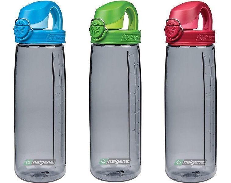 Nalgene Everyday OTF Trinkflasche Einhand Druckverschluß grau